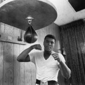 Muhammad Ali, en un entrenamiento