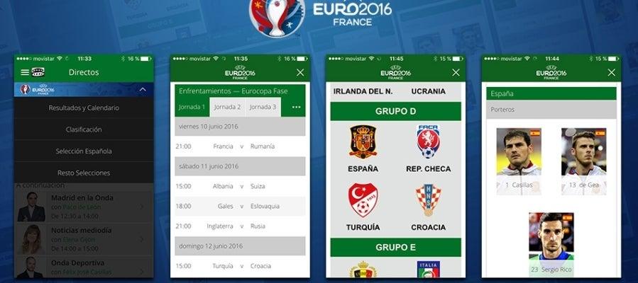 Toda la información de la Eurocopa 2016 en la aplicación de Onda Cero