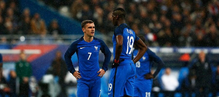 Griezmann y Pogba, líderes de la selección francesa