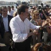 Mariano Rajoy en un acto en Santa Pola