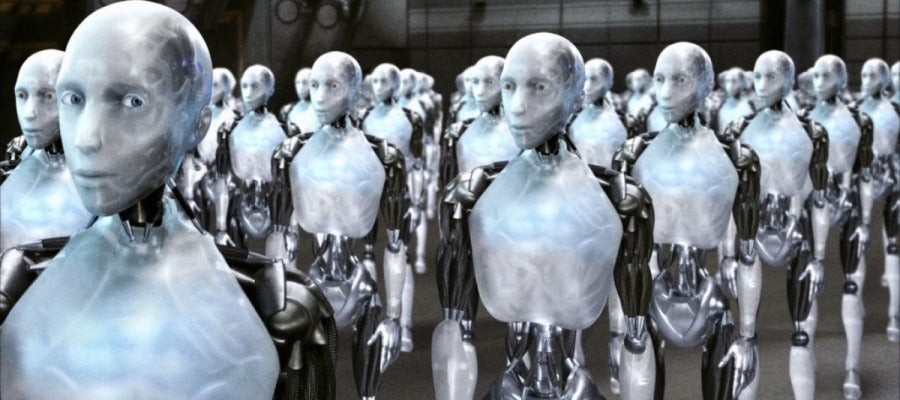 Momento de la película 'Yo robot'