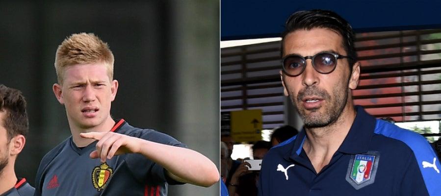 De Bruyne y Buffon, líderes de Bélgica e Italia en la Eurocopa