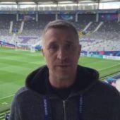Fernando Burgos en el entrenamiento de la Selección en Toulouse