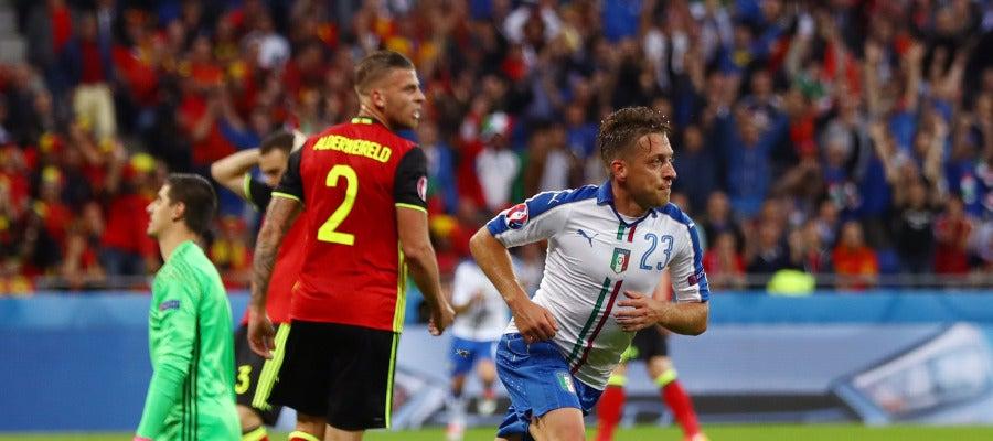Emanuele Giaccherini celebra su gol ante Bélgica