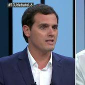 Albert Rivera y Pablo Iglesias, durante el debate a cuatro