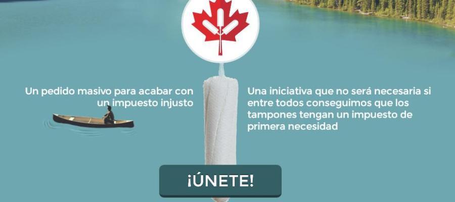 Imagen de la campaña 'Tampons from Canada'