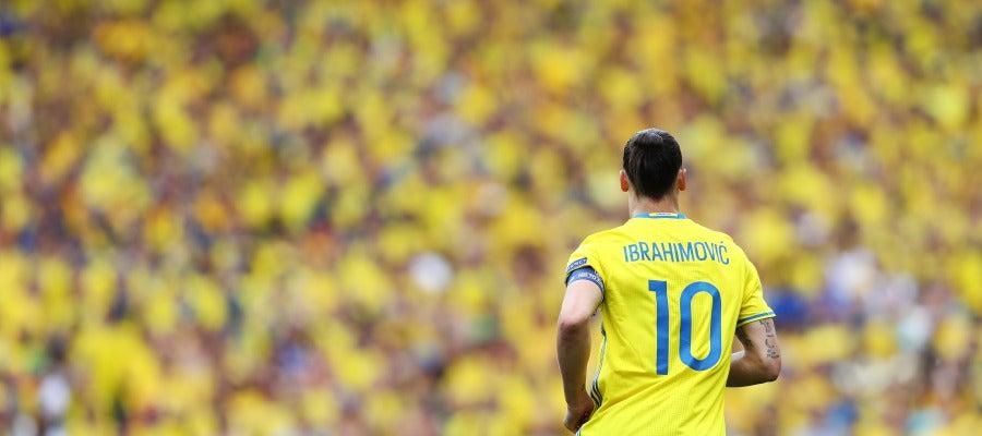 Ibrahimovic durante la Eurocopa de Francia