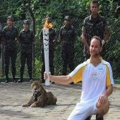 El jaguar 'juma' antes de producirse el ataque