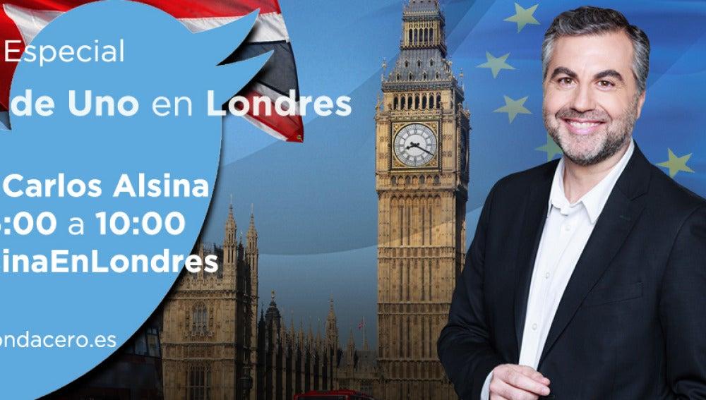 Carlos Alsina desde la sede de Twitter de Londres