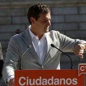 Albert Rivera en un acto de campaña