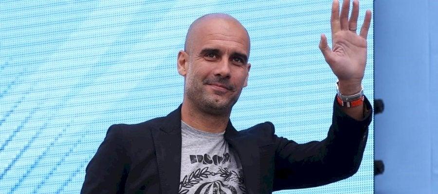 Pep Guardiola durante su presentación como técnico del City