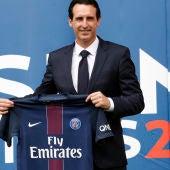 Unai Emery, en su presentación como entrenador del PSG