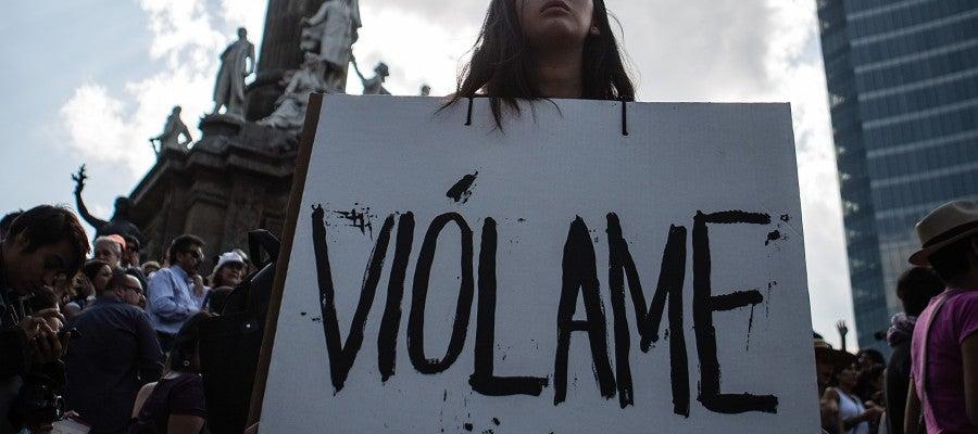 Protesta contra las agresiones sexuales en México.