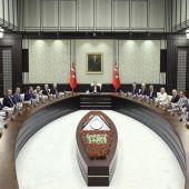 El presidente de Turquía en plena reunión en Ankara
