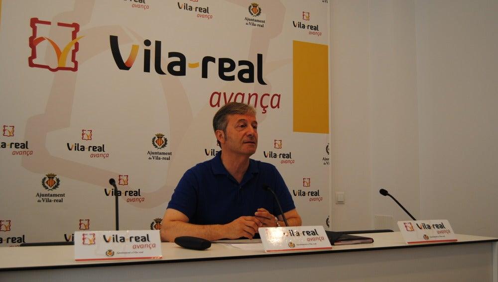 El regidor de Cultura, Eduardo Pérez, presenta el pla d'ajust de l'àrea.