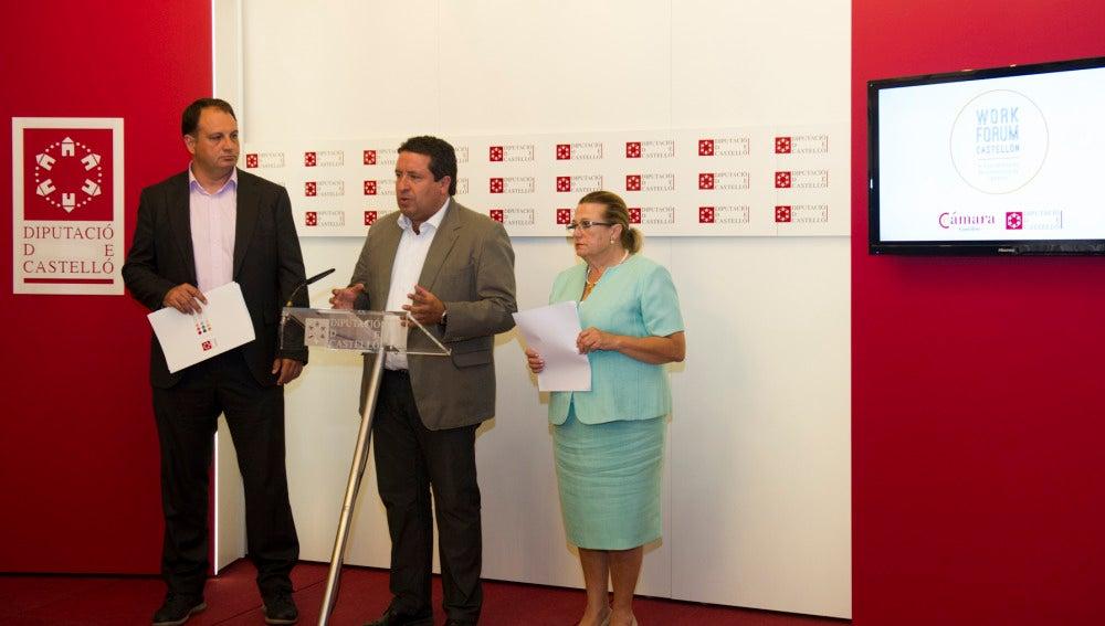 Javier Moliner y Mº Dolores Guillamón en la presentación de la II edición del Work Forum Castellón
