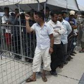 Refugiados sirios en Grecia.
