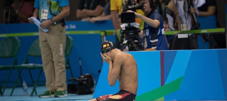 El nadador Miguel Durán