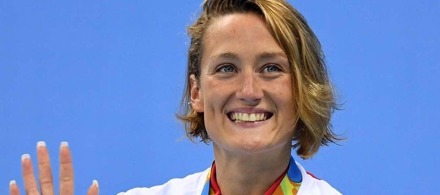 Mireia Belmonte, tras ganar el bronce en 400 estilos