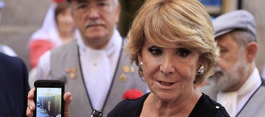 La presidenta y portavoz del grupo municipal del PP en el Ayuntamiento de Madrid, Esperanza Aguirre