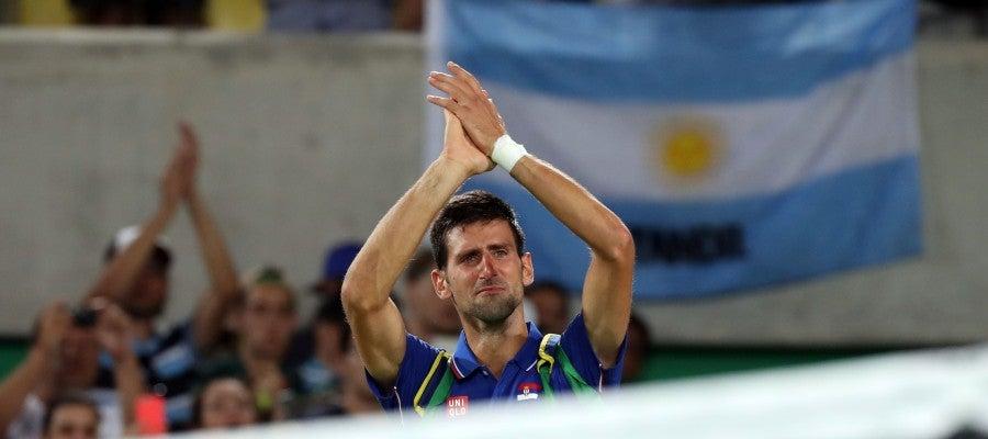 Djokovic, entre lágrimas tras caer eliminado
