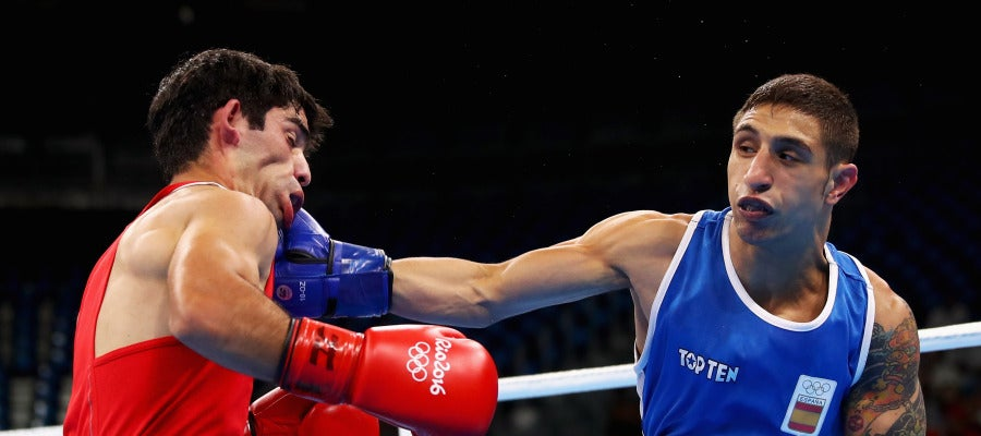 Samuel Carmona, mientras disputa un combate en Río