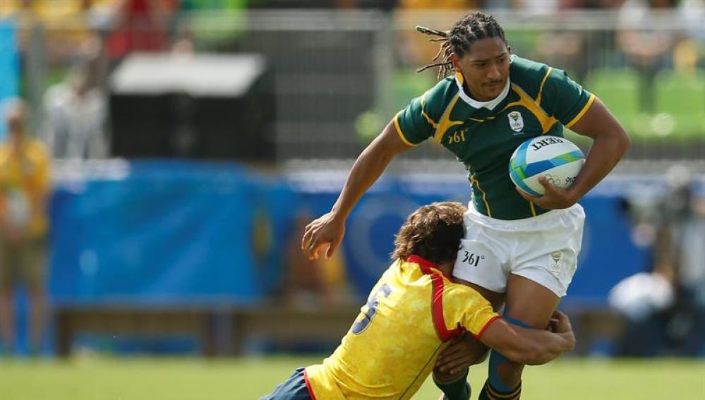 La selección española de Rugby 7 pierde ante Sudáfrica