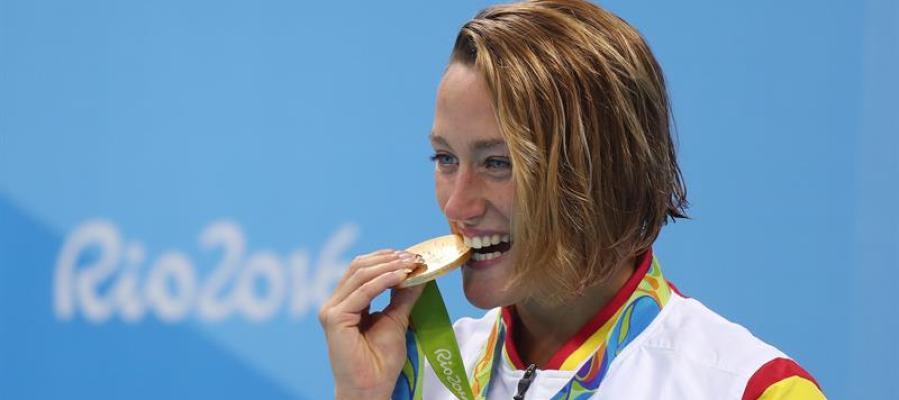 Belmonte, radiante durante la entrega de medallas