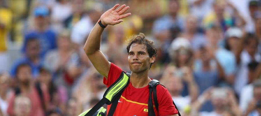 Rafa Nadal y Garbiñe Muguruza, se retiran del dobles mixto