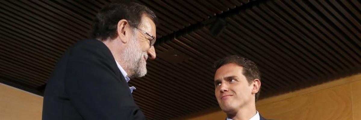 Mariano Rajoy y Albert Rivera, reunidos en el Congreso