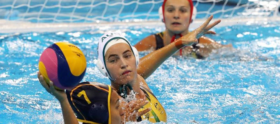 Imagen del partido de Waterpolo entre España y Australia