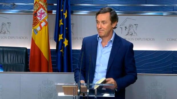"""Rafael Hernando: """"En estos momentos en la negociación hay algunos flecos que resolver y estamos trabajando en ello"""""""