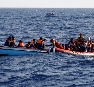 Rescate frente a las costas de Libia