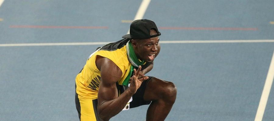 Usain Bolt celebra un nuevo triunfo en Río