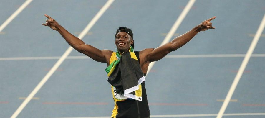 Bolt celebra un nuevo triunfo