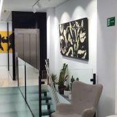 Galería de arte en una clínica dental