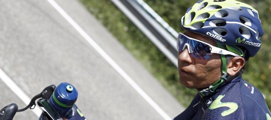 Nairo Quintana, durante la etapa de los Lagos de Covadonga
