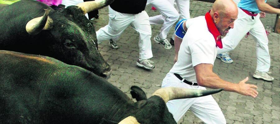 Julen Madina, corredor de toros