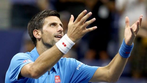 Djokovic celebrando su triunfo ante Janowicz en el US Open