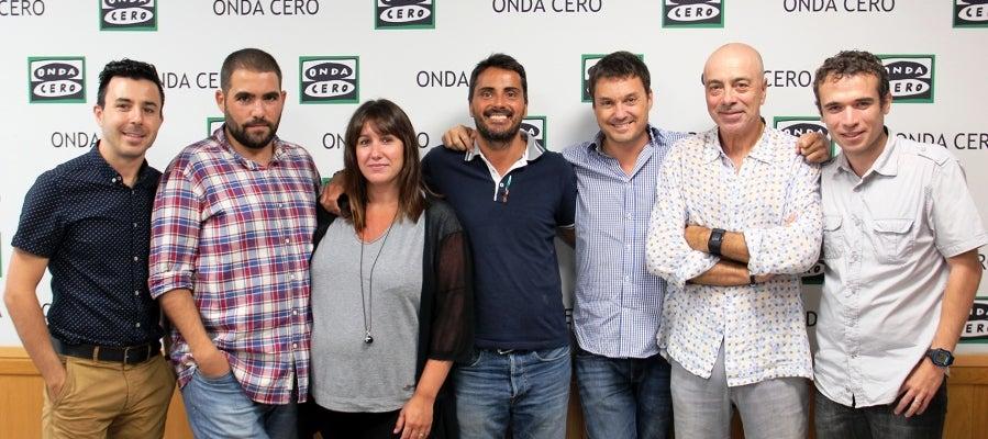D'esquerra a dreta, Carles Lamelo, Robert Calvo, Míriam Franch, Víctor Lozano, Albert Lesan, Carles Aguilar i David Cervelló