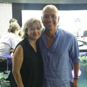Carmen Machi con Juan Ramón Lucas.
