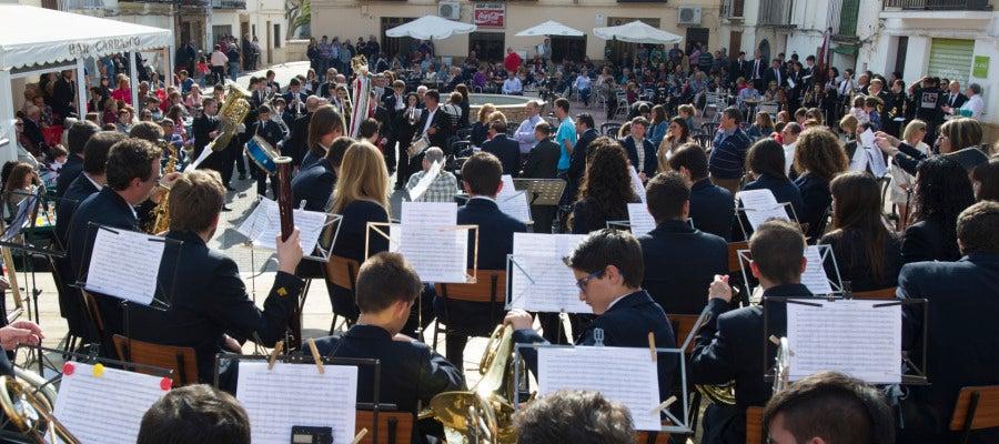 Una de las actuaciones de bandas de música provincial.