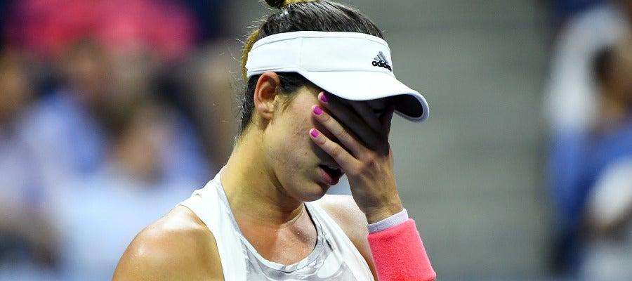 Muguruza, tras su derrota en el US Open