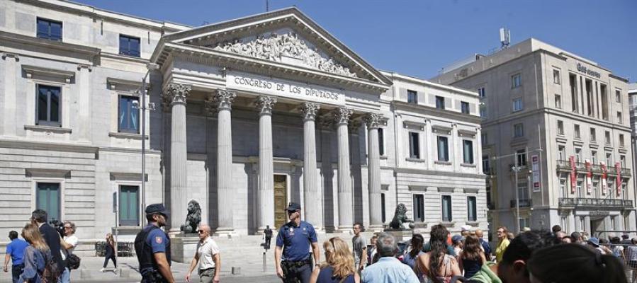 Exterior del Congreso de los Diputados