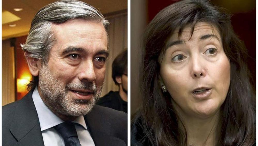 Los magistrados Enrique López y Concepción Espejel