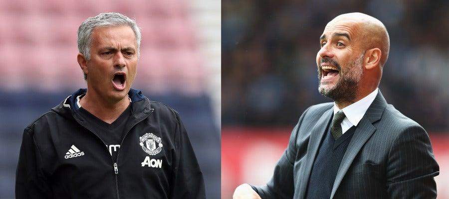 Mourinho-Guardiola, el enfrentamiento con 'más morbo' del derbi de Manchester.