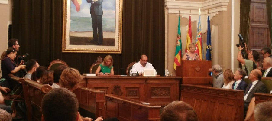 El salón de plenos del ayuntamiento ha acogido la firma del hermanamiento
