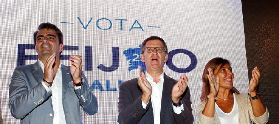 Arranca la campaña de Feijóo en Galicia.