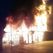 Incendio en Lesbos.