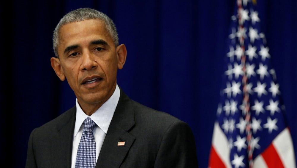 Barack Obama en una comparecencia